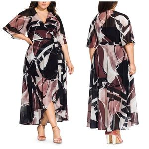 City Chic Sahara Maxi Wrap Dress Plus Size 18